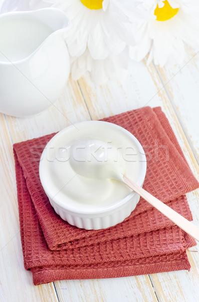Ekşi krema ışık mutfak plaka pişirme pişirmek Stok fotoğraf © tycoon