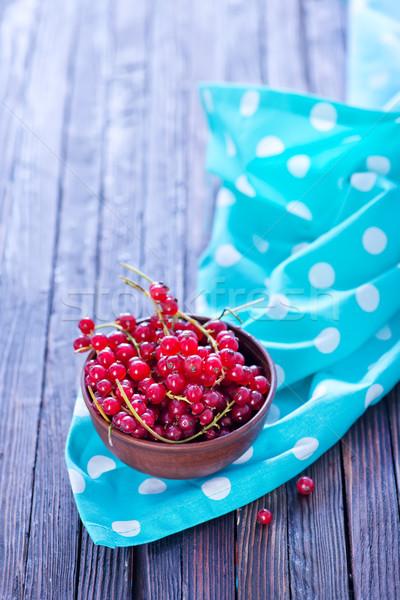 Kırmızı frenk üzümü çanak tablo gıda doğa Stok fotoğraf © tycoon