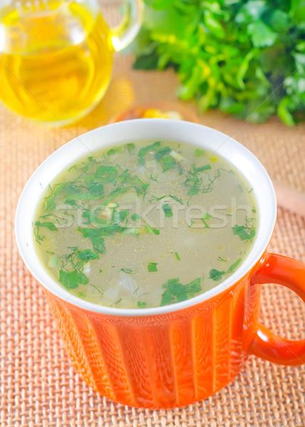 Сток-фото: свежие · суп · ресторан · обеда · кукурузы · Кубок