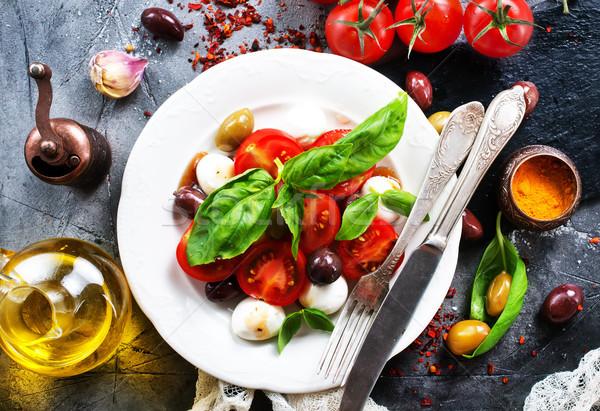 Caprese insalata caprese piatto tavola alimentare legno Foto d'archivio © tycoon