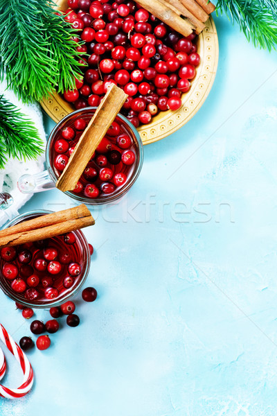 Stockfoto: Drinken · bessen · christmas · glas · tabel