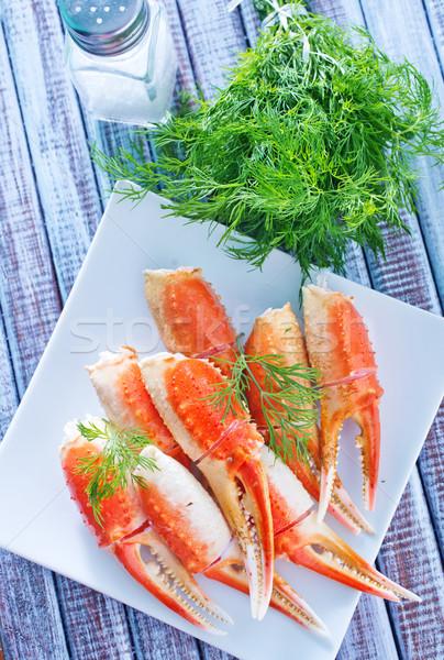 Yengeç gıda turuncu kabuk yemek Stok fotoğraf © tycoon