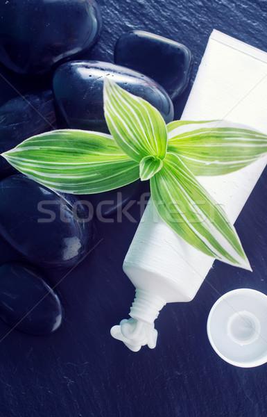 Krém test arc cső víz egészség Stock fotó © tycoon