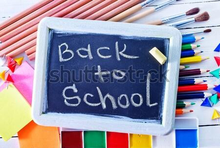 школьные принадлежности таблице карандашей школы пер Сток-фото © tycoon