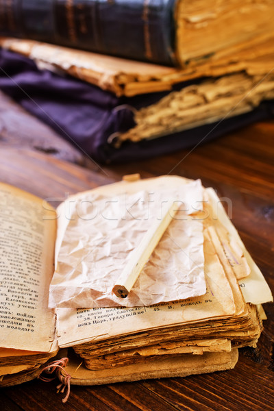 Velho livro escolas espaço tempo preto estudar Foto stock © tycoon