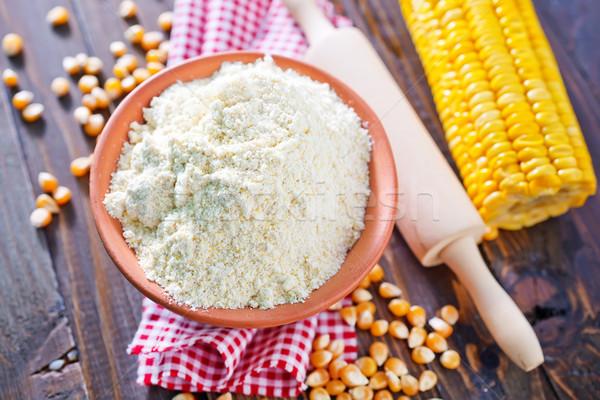 Mąka kukurydza drewna rolnictwa słodkie posiłek Zdjęcia stock © tycoon