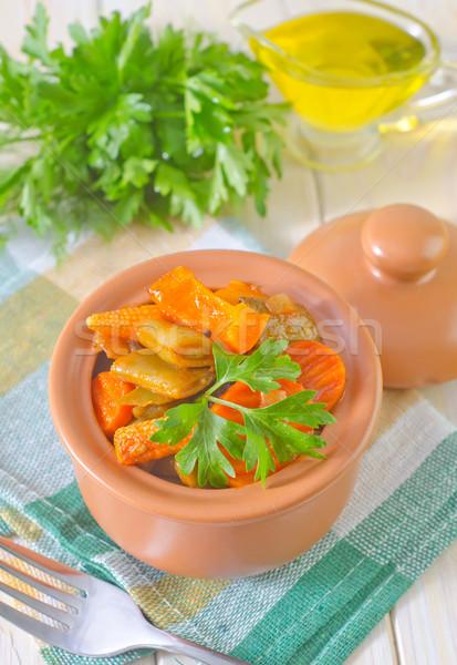 Hortalizas carne desayuno chino tomate Foto stock © tycoon
