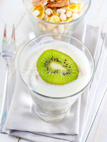 Fresche yogurt muesli vetro alimentare colazione Foto d'archivio © tycoon