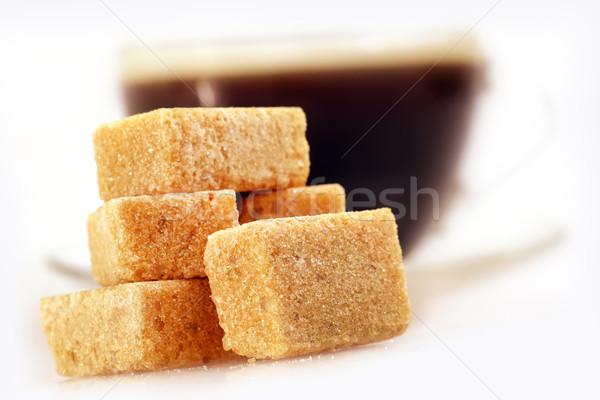 Azúcar textura alimentos naturaleza vidrio beber Foto stock © tycoon