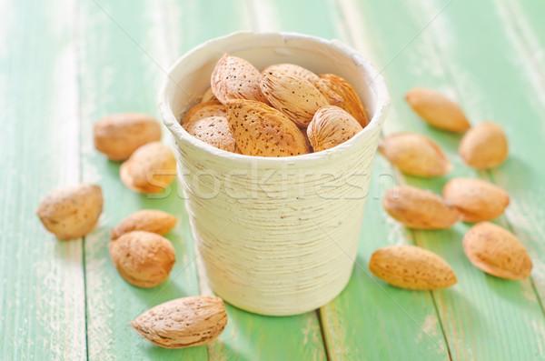 Mandorla sfondo fresche sementi grano oggetto Foto d'archivio © tycoon
