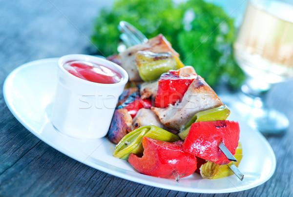 Frito quibe molho branco prato ferramenta Foto stock © tycoon