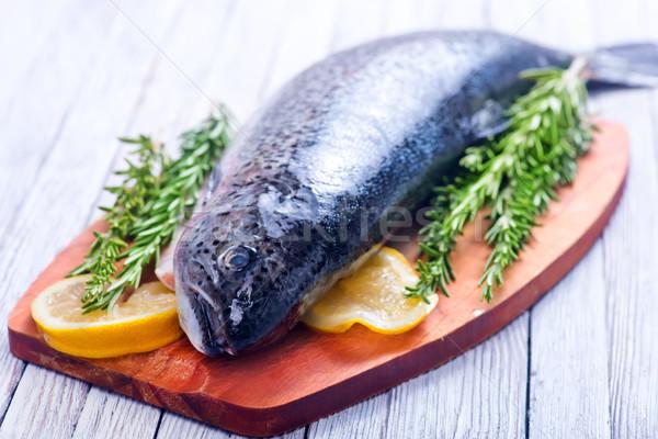 Nyers hal fűszer só asztal étel Stock fotó © tycoon