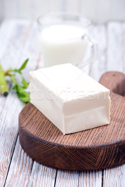 Тофу сыра синий пластина черный Сток-фото © tycoon