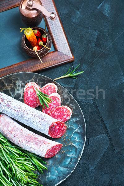 サラミ スパイス ボード 食品 背景 ストックフォト © tycoon