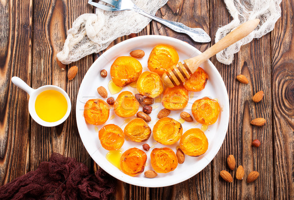 apricots with honey Stock photo © tycoon