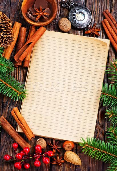 ноутбук рецепт меню специи продовольствие шоколадом Сток-фото © tycoon