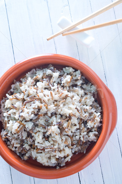 Bouilli riz restaurant dîner plaque asian Photo stock © tycoon