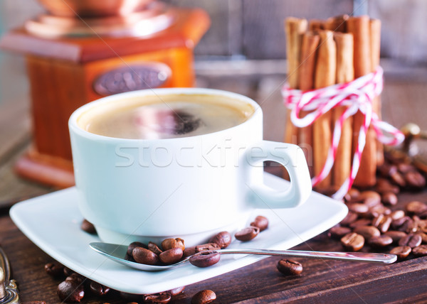 Café tasse de café table boire sombre tasse Photo stock © tycoon