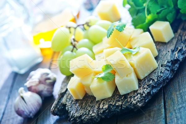 Queso de uva agua madera frutas Foto stock © tycoon