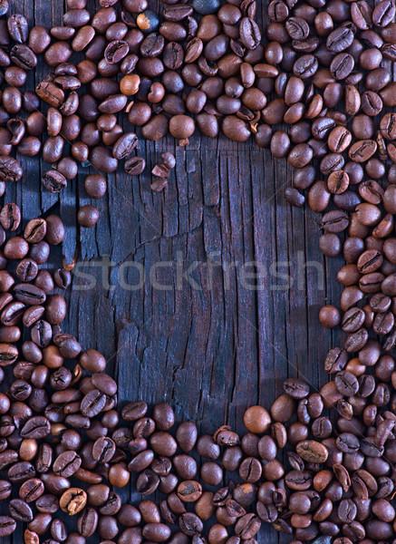 кофе деревянный стол пространстве таблице пить черный Сток-фото © tycoon