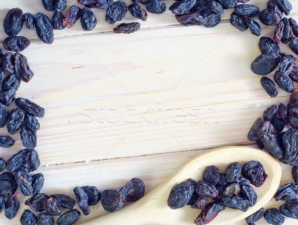 Mazsola asztal kék csoport fekete szín Stock fotó © tycoon