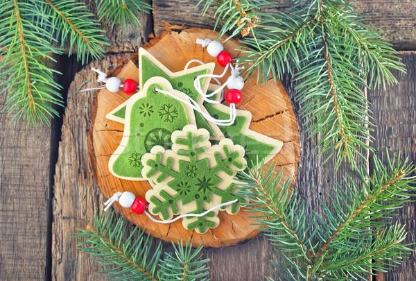 Natale decorazione albero di natale tavola albero legno Foto d'archivio © tycoon