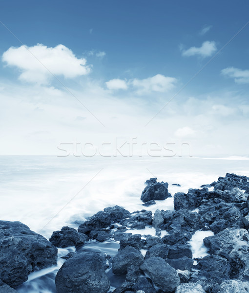 Marina playa paisaje luz mar belleza Foto stock © tycoon