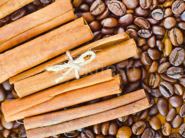 Café canela comida beber papel de parede semente Foto stock © tycoon