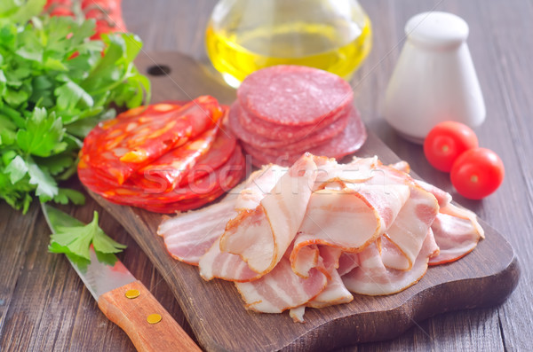 salami and bacon Stock photo © tycoon
