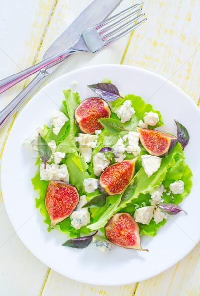 Sałatka ser niebieski tablicy biały piknik Zdjęcia stock © tycoon