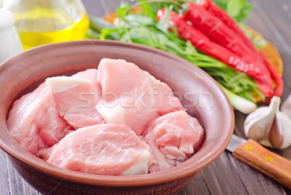 Et lezzet baharatlar kas plaka Stok fotoğraf © tycoon