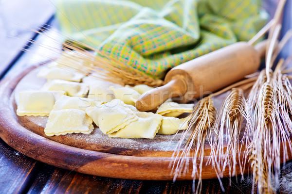 Ravioli farinha tabela família cozinha Foto stock © tycoon