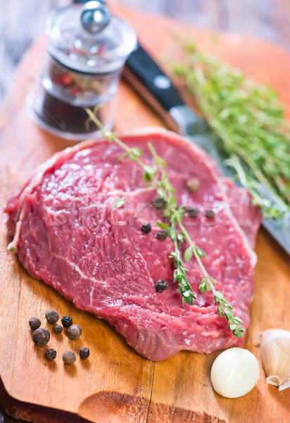 Et lezzet mutfak masası gıda arka plan Stok fotoğraf © tycoon