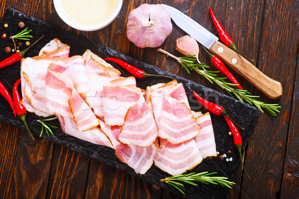 Bacon tempero festa peito gordura Foto stock © tycoon