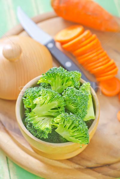 Brokoli yaprak bitki stüdyo pişirmek tarım Stok fotoğraf © tycoon