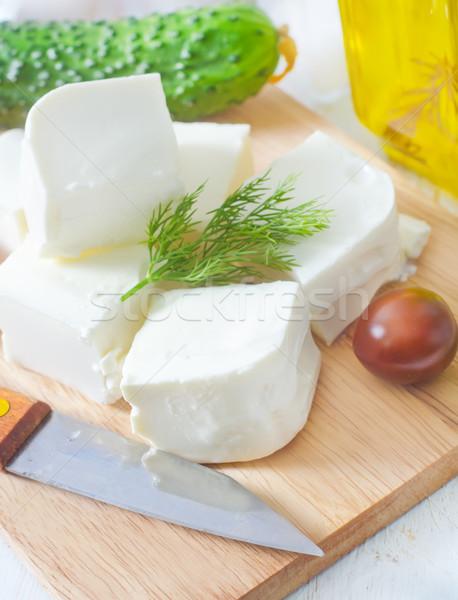 Ingredientes grego salada luz jantar faca Foto stock © tycoon