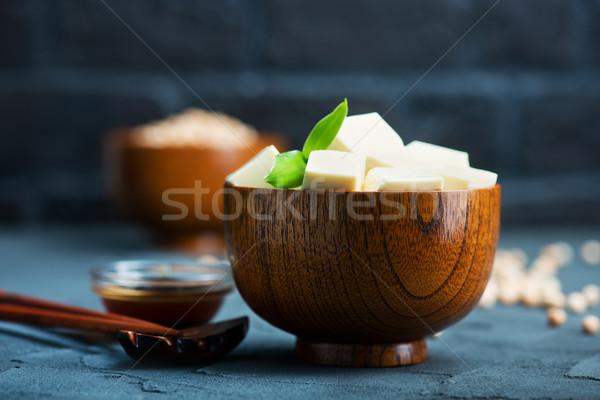 Tofu sajt tál asztal egészség ázsiai Stock fotó © tycoon