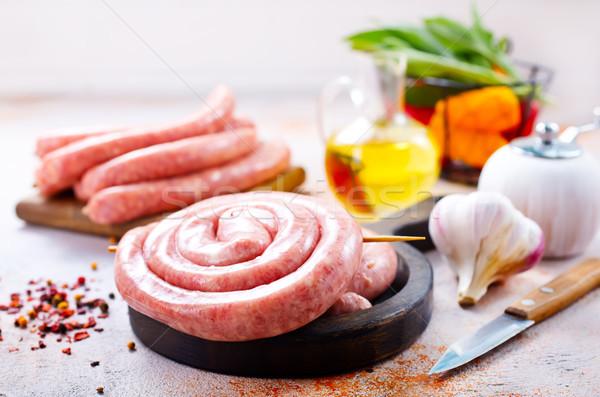 Et ürünleri lezzet baharat tablo gıda Stok fotoğraf © tycoon