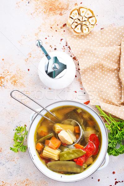 Sopa de legumes tigela estoque foto comida fundo Foto stock © tycoon