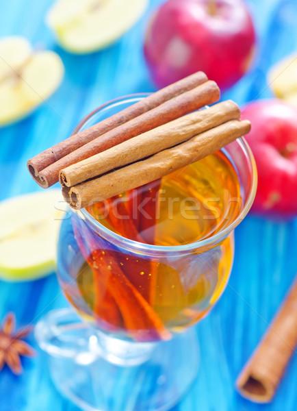 リンゴジュース リンゴ ガラス 背景 赤 色 ストックフォト © tycoon