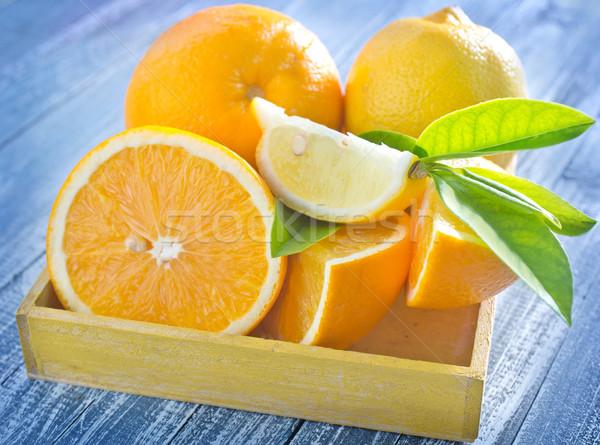 柑橘類 葉 クロス フルーツ 緑 石灰 ストックフォト © tycoon