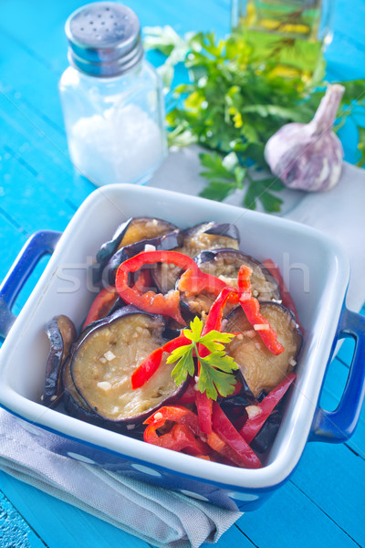 fried eggplant with pepper Stock photo © tycoon