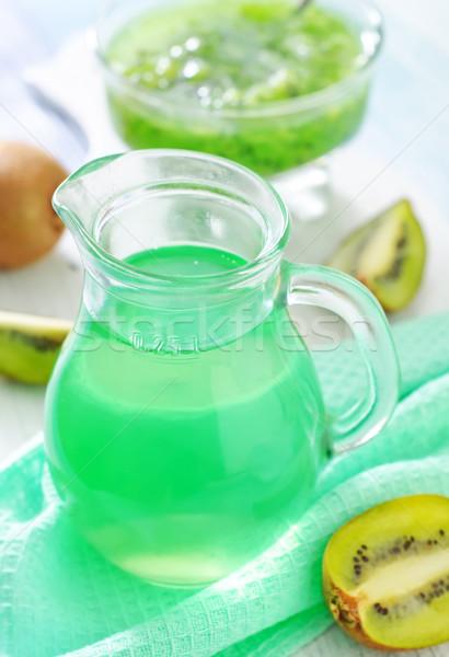 Kiwi beber frutas vidrio salud verde Foto stock © tycoon