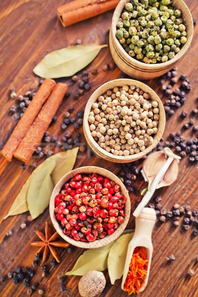 味 香料 食品 綠色 黑色 白 商業照片 © tycoon