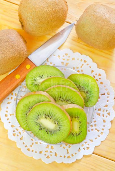 свежие киви продовольствие пустыне таблице зеленый Сток-фото © tycoon