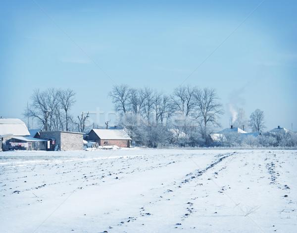 Tél égbolt tájkép kék ég vidék gyep Stock fotó © tycoon