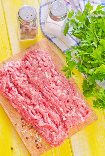 minced meat with spice Stock photo © tycoon