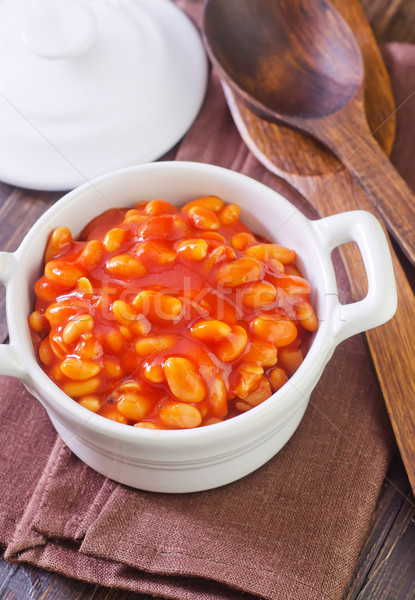 white beans with tomato sauce Stock photo © tycoon