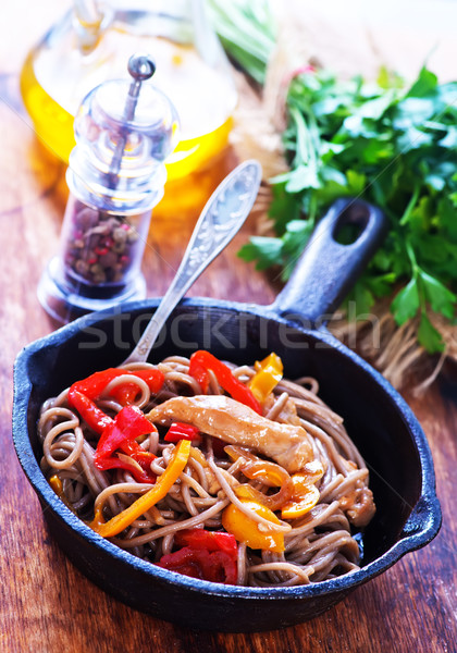 soba with meat and vegetables Stock photo © tycoon