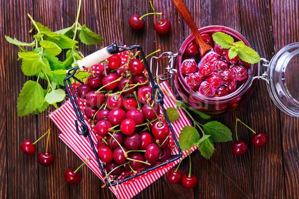 cherry jam and berries Stock photo © tycoon